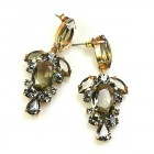 Raquel Earrings Pierced ~ Smoke Crystal