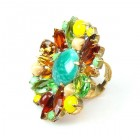 Empress Ring ~ Jade Greeen with Topaz