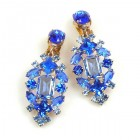 Fatal Touch Earrings Clips-on ~ Blue