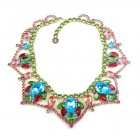 Roxanne Necklace ~ Aqua Multicolor Green