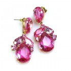Anna Marie Earrings Pierced ~ Fuchsia