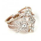 Four Stars ~ Clear Crystal Clamper Bracelet