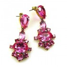 Marlene Earrings Pierced ~ Fuchsia