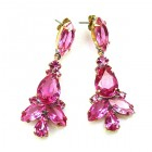 Sophia Earrings Pierced ~ Fuchsia
