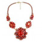 Inca Necklace ~ Red Hyacinth