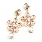 Flowers Earrings Pierced ~ Pink