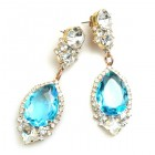 Tears Pierced Earrings ~ Crystal Aqua