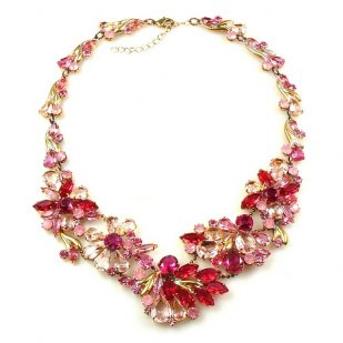 Power of Flowers ~ Necklace ~ Pink Tones
