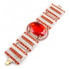 Dare to Dazzle Bracelet ~ Red Hyacinth and Clear Crystal