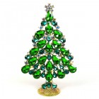 2020 Xmas Tree Stand-up Decoration 15cm ~ Green Emerald