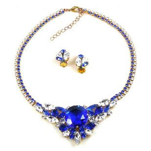 Artemis Set ~ Blue with Clear Crystal