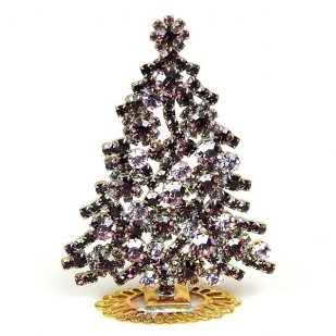 Xmas Tree Standing Decoration 2018 #08 Purple Violet