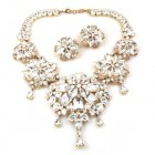 Crystal Blossom ~ Necklace Set ~ Clear Crystal