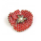 Red Poppy Brooch ~ Smaller