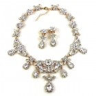 Celebration Parure Set with Brooch ~ Clear Crystal