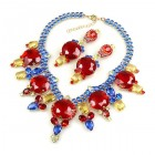 Taj Mahal Necklace Set with Earrings ~ Multicolor