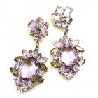 Sweet Temptation Earrings Pierced ~ Violet Smoke Crystal
