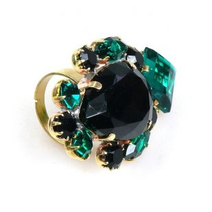 Déjà vu Ring ~ Emerald Black