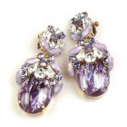 Lucrecia Extra Elipse Earrings Long Clips ~ Violet