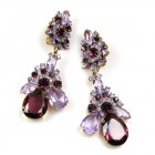 Parisienne Bloom Earrings Clips ~ Violet Secret