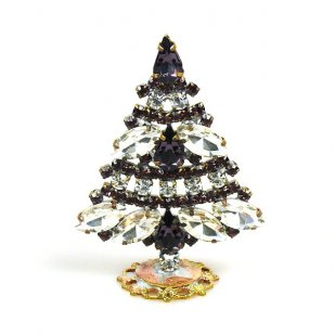Xmas Tree Standing Decoration 2019 #18 ~ Purple Clear