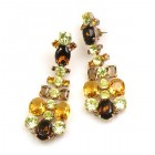 Dione Earrings Pierced ~ Topaz Yellow Jonquil