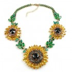 Sunflower Chunky Necklace