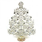 14 Inches Giant Xmas Tree with Navettes ~ Clear Crystal