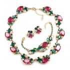 Lite Fountain Set ~ Fuchsia Emerald AB