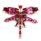 Dragonfly Brooch Extra Large ~ Fuchsia