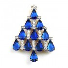 Xmas Tree Brooch #08 ~ Blue