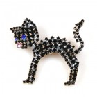 Bristled Kitty Pin ~ Black