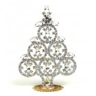 Xmas Tree Decoration Rings and Navettes ~ Clear Crystal