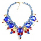 Taj Mahal Necklace ~ Blue Yellow Red