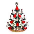 Xmas Tree Standing Decoration 2018 #03 ~ Green Clear Red