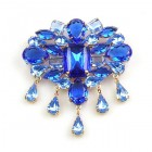 Marquis Brooch ~ Sapphire Blue