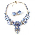 Charmeur Set Necklace with Earings ~ Crystal Opaque Sapphire