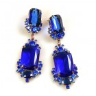 Pearlesque Earrings Pierced ~ Deep Blue