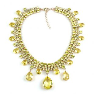 Raindrops Necklace ~ Yellow Jonquil