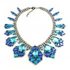 Fancy Essence Necklace ~ Blue Aqua ~ Jet Black Plated
