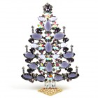 2019 Xmas Tree Decoration 21cm Navettes ~ Purple Violet