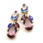 Fountain Clips-on Earrings ~ Colors with Purple