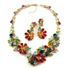 Power of Flowers ~ Necklace Set ~ Multicolor