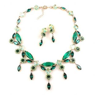 Archimedes Necklace Set ~ Emerald Green