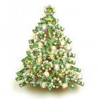 Xmas Tree Brooch #10 ~ Green AB