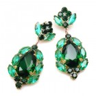 Sonatine Earrrings for Pierced Ears ~ Emerald Green