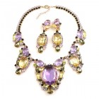 Omnia Necklace Set ~ Violet Yellow Jonquil
