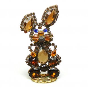 Bunny Stand Up Decoration Smaller ~ Topaz
