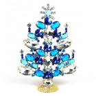 2020 Xmas Tree Decoration 16cm Navettes ~ Blue Aqua Clear