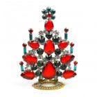 Xmas Tree Standing Decoration 2019 #07 ~ Red Emerald